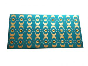 Sea Blue Color Shagun Envelope with Rhinestone