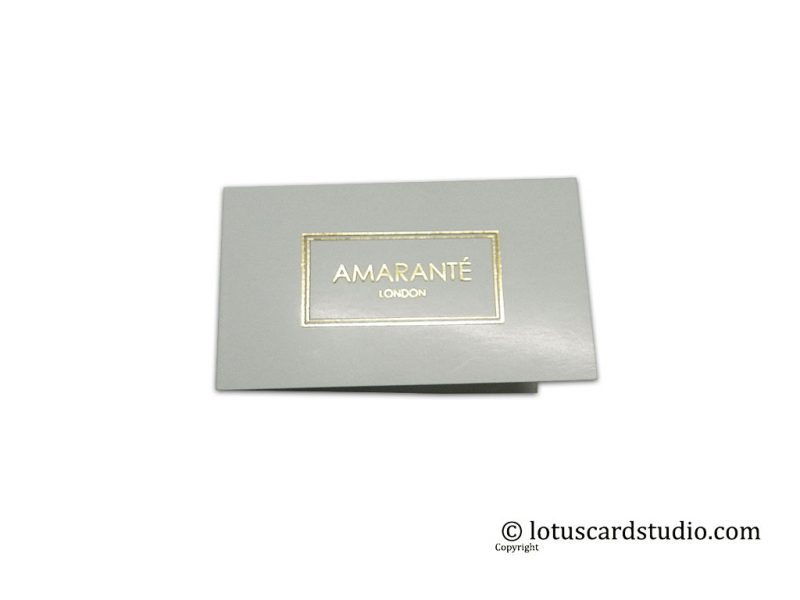 Hot Foil Printed Folded Gift Tag with Envelope
