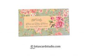 Vintage Floral Designer Gift Tags, Favor Tags