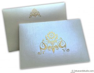 Thank You Card in Ivory with Golden Design