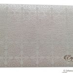 Envelope front of Thank you Card in Textured Ivory with Golden Symbol