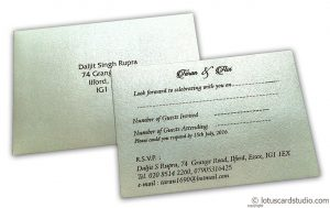 RSVP Card in Pearl Shimmer Ivory