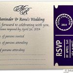 Card of RSVP Card in Imperial Purple and Ivory
