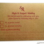 Card of RSVP Card in Red and Golden