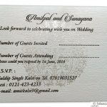 Card of RSVP in Ivory with Golden Crown Design