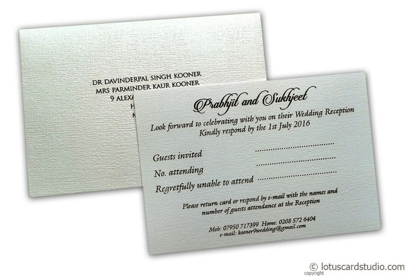 Ivory Canvas Paper made RSVP