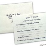 RSVP Card in Ivory Signature