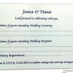 Card of RSVP Card in Ivory Signature