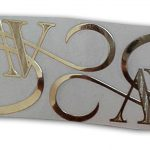 Monogram Metal Sticker