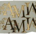 Monogram Metal Sticker
