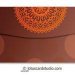 Back of Colorful Diyas Brown Shagun Envelope