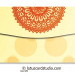Back of Colorful Diyas Cream Shagun Envelope