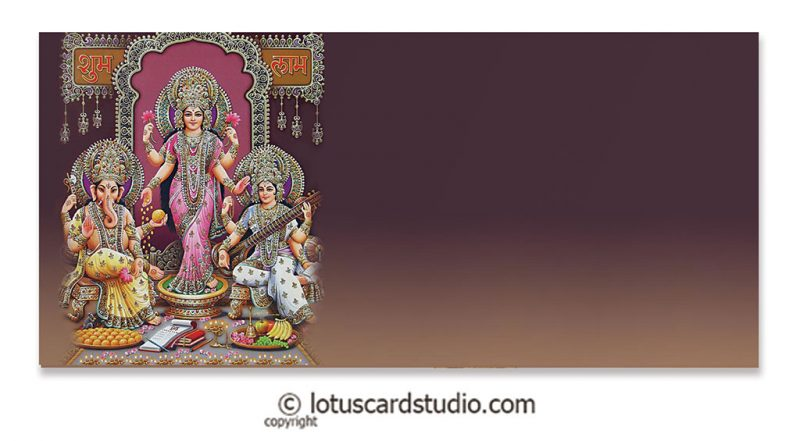 Front of Lakshmi Ganesha Saraswati Shagun Envelope