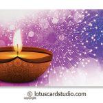 Front of Diya and Fireworks Gift Envelope