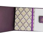 Card inside of Magnetic Purple Wedding Invitation Card