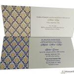 Inserts of Magnetic Purple Wedding Invitation Card