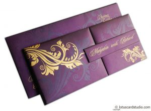 Magnetic Purple Wedding Invitation Card