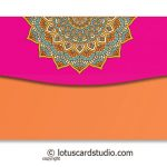 Back of Orange Gift Envelope with Shaahi Mosaic Art