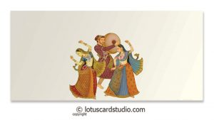 Front of Sangeet/Musical Theme Money Envelope