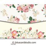 Back of Pink Vintage Floral Money Gift Envelopes