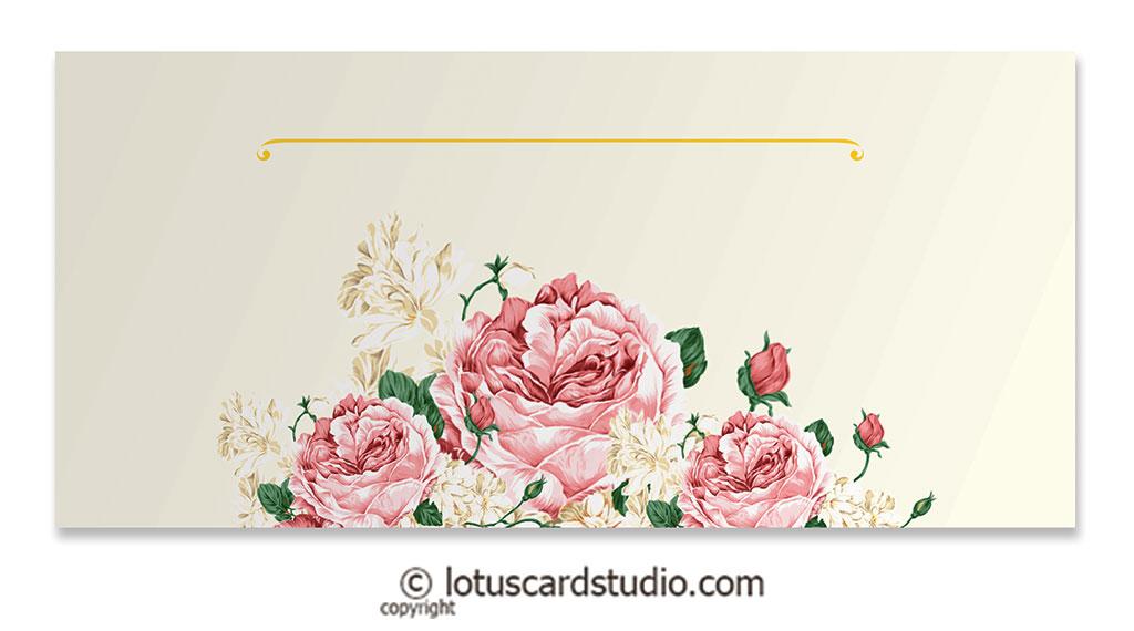 Front of Pink Vintage Floral Money Gift Envelopes