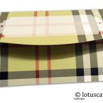 Back of Burberry Design Envelope