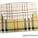 Flap open of Burberry Design Envelope