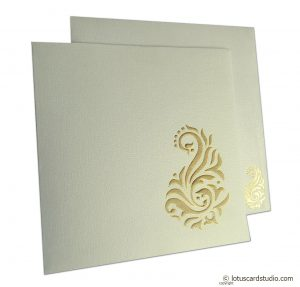 Golden Shine Wedding Card
