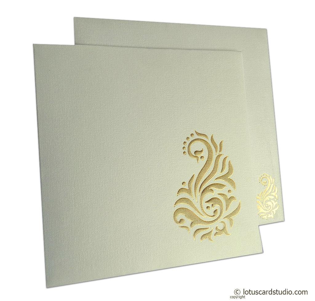 Golden Shine Wedding Card