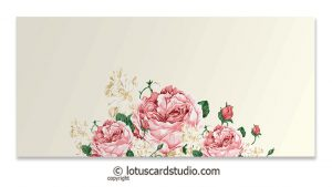 Front of Pink Vintage Floral Gift Envelopes in Ivory