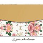 Back of Pink Ivory Vintage Floral Gift Envelope