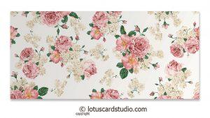 Front of Pink Ivory Vintage Floral Gift Envelope