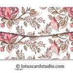 Back of Pink and Brown Fusion Floral Gift Envelope
