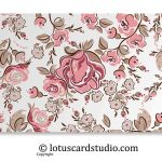 Front of Pink and Brown Fusion Floral Gift Envelope