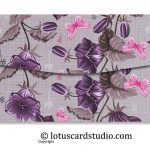 Back of Pink and Purple Fusion Floral Gift Money Envelope