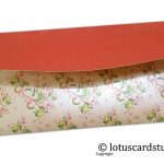 Back of Beautiful Peach and Pink Floral Gift Envelope