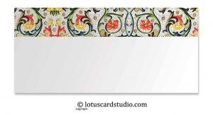 Front of Classic Designer Floral Gift Envelope