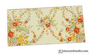 Front of Multicolored Floral Digital Print Gift Envelope