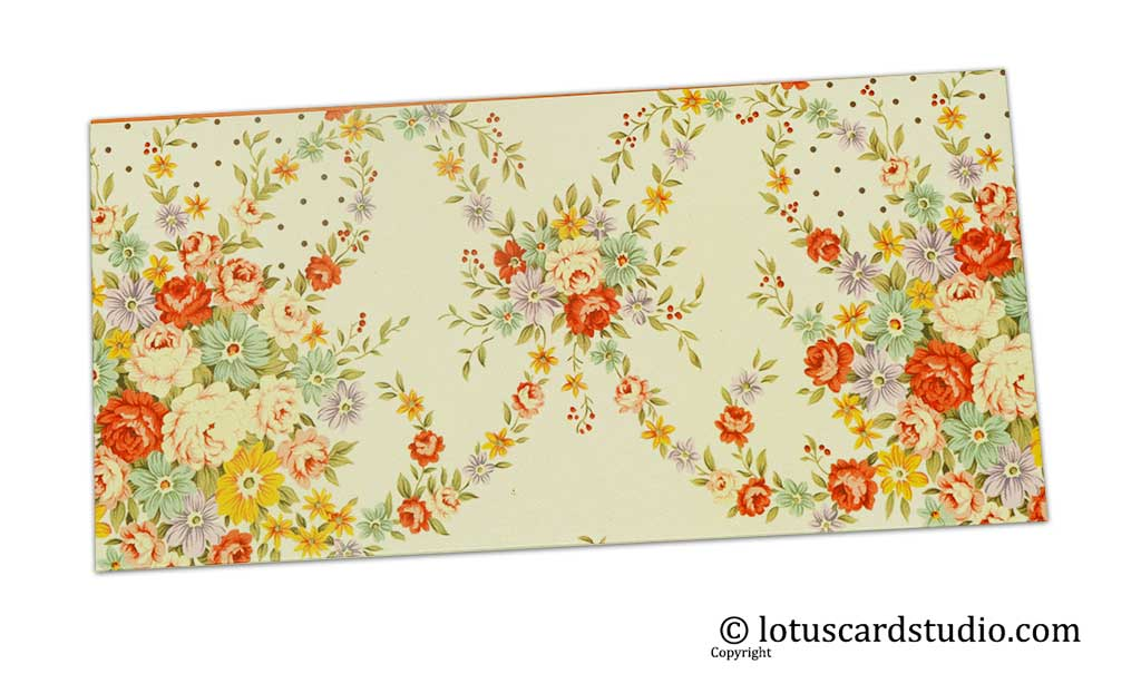 Front of Multicolored Floral Digital Print Gift Envelope