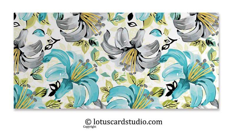 Front of Pastel Theme Floral Envelopes