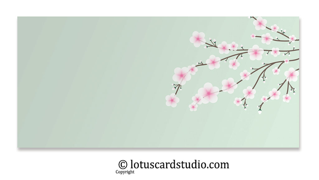 Front of Shagun Envelope with Tiny Pnik Flowers