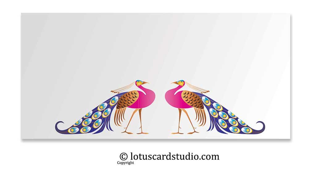 Front of Vibrant Peacocks Gift Envelope