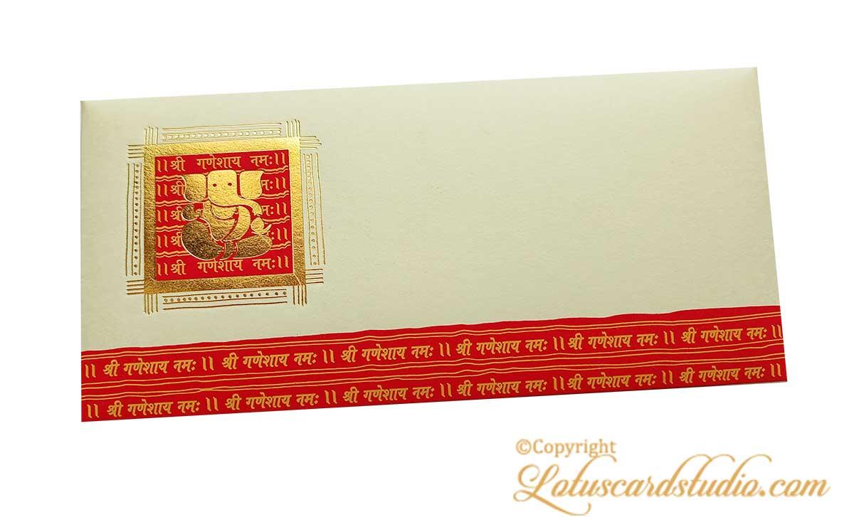 Shree Ganesha Envelope in Ivory