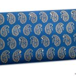 Front view of Paisley Theme Shagun Envelope in Imperial Blue