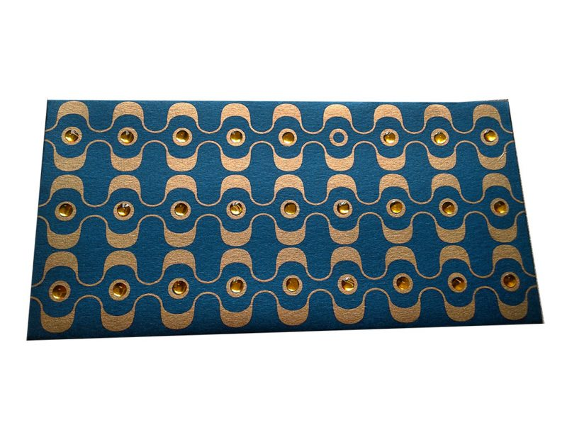 Front view of Rhinestones Rich Shagun Envelope in Imperial Blue