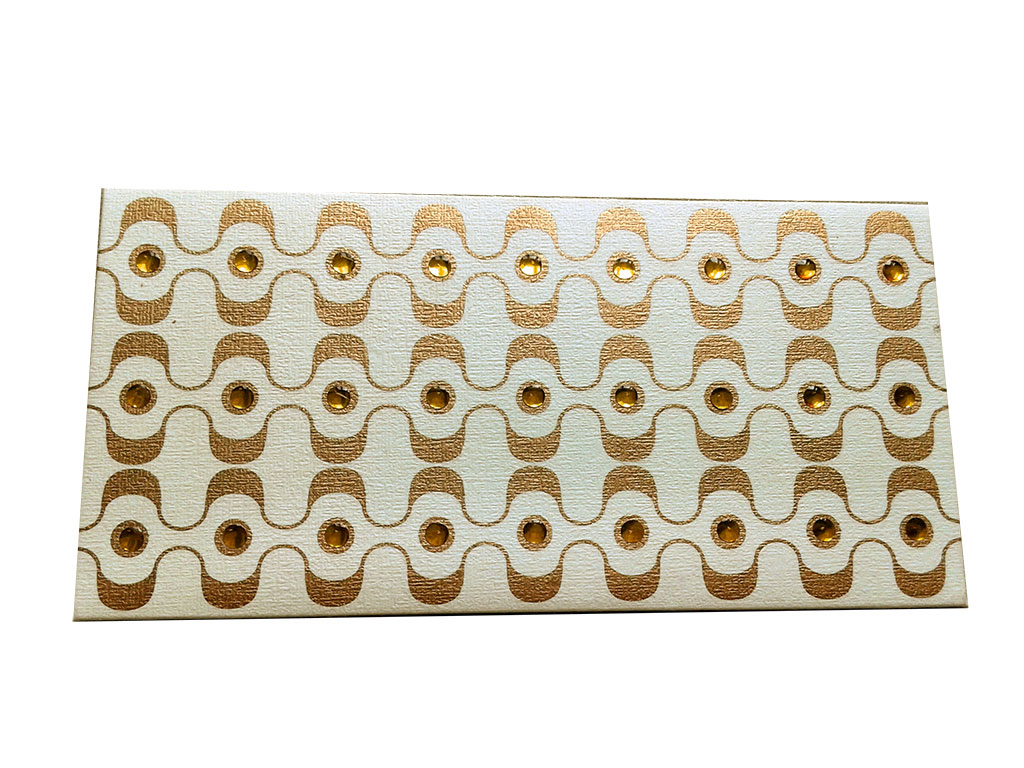 Front view of Rhinestones Rich Shagun Envelope in Ivory