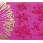 Front view of Beautiful Mexican Pink Color Envelope with Golden Blossom Flower