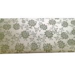 Front view of Money Gift Envelope in Pearl Ivory with Soothing Green Floral Design