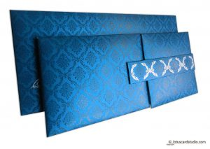 Blue Magnet Dazzling Wedding Invitation Card