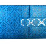 Card front of Blue Magnet Dazzling Wedding Invitation Card